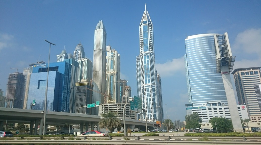 Dubai marina towers. In my opinion, nicest in Dubai (Except that flat one in the front).